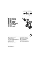 Metabo BS 14,4 LT Impuls sayfa 1