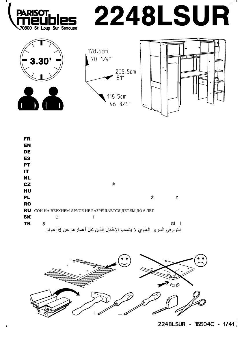 Lit Mezzanine 3 Ans parisot mademoiselle manual