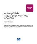 HP StorageWorks MSA1000 page 1