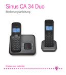 T-Mobile Sinus CA 34 Duo Seite 1