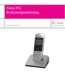T-Mobile Sinus 101 Seite 1