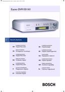 Bosch DVR1B1161 sivu 1