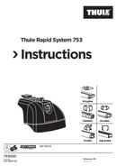 Página 1 do Thule Rapid System 753