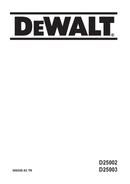 DeWalt D25003 pagina 1