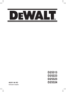 DeWalt D25323 pagina 1