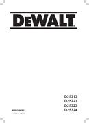 DeWalt D25223 pagina 1