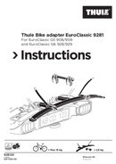 Thule Bike adapter EuroClassic 9281 page 1