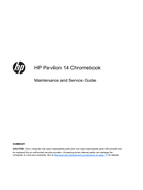 HP Pavilion Chromebook 14 page 1