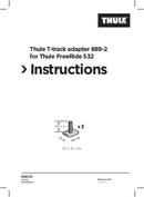 Página 1 do Thule T-track Adapter 889-2