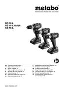 Metabo BS 18 L Quick sayfa 1