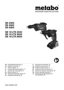 Página 1 do Metabo SE 18 LTX 6000