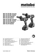 Metabo BS 18 LTX BL Quick sayfa 1