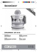 SilverCrest SZP 25 B2 sivu 1