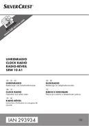 Página 1 do SilverCrest SRW 10 A1