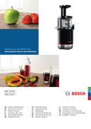 Bosch MESM731M side 1