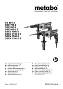 Metabo SBE 850-2 Seite 1