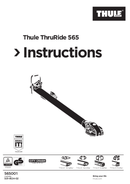 Página 1 do Thule ThruRide 565 bicycle carrier