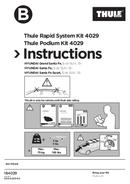 Pagina 1 del Thule Kit 4029 Flush Railing