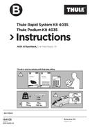 Pagina 1 del Thule Kit 4035 Flush Railing