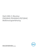 Dell P2219H Seite 1