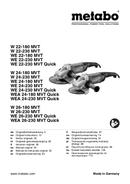 Metabo W 22-230 MVT sayfa 1