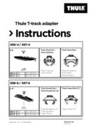 Pagina 1 del Thule T-track adapter 697-4