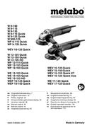 Metabo W 9-115 sayfa 1