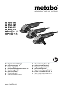 Metabo W 850-125 SET sayfa 1