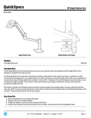 HP Single Monitor Arm page 1