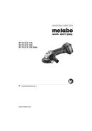 Página 1 do Metabo W 18 LTX 115