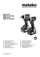 Página 1 do Metabo SSW 18 LTX 200