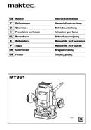 página del Maktec MT361 1
