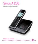 T-Mobile Sinus A 206 Seite 1