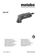 Página 1 do Metabo SX E 400