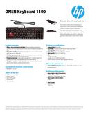 HP Omen Keyboard 1100 page 1