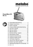 Página 1 do Metabo Powermaxx RC WildCat