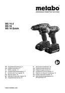 Metabo BS 18 Quick Seite 1