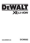 DeWalt DCM562 side 1