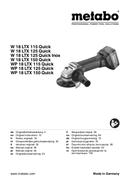 Metabo W 18 LTX 125 Quick Seite 1