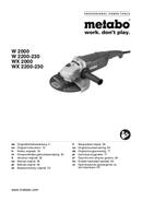 Metabo WX 2000 Seite 1