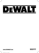 DeWalt DCS777 page 1