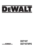 DeWalt D27107 page 1