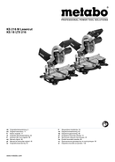 Metabo KS 216M Lasercut Seite 1