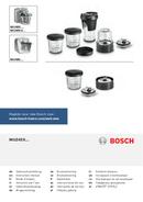 Bosch MUM54230 Styline pagina 1