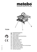 Página 1 do Metabo TS 254
