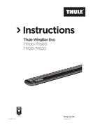 Página 1 do Thule WingBar Evo 150