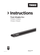 Página 1 do Thule Wingbar Evo 108