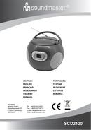 Soundmaster SCD2120GR sayfa 1