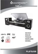 Soundmaster PL 875 page 1