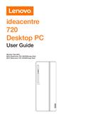 Página 1 do Lenovo IdeaCentre 720 90HT001SMH